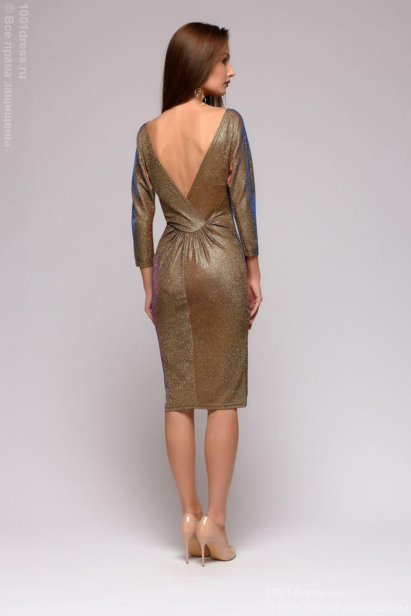 0ffc0ceea07 Платье с люрексом и открытой спиной