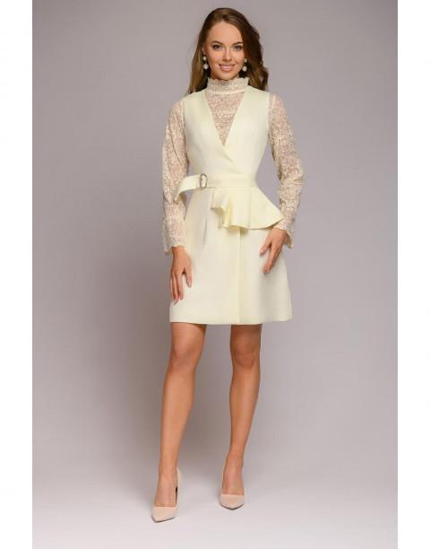 Платье-жилет со съемной баской