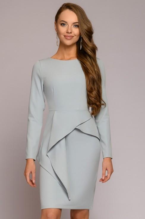 Платье-футляр с баской