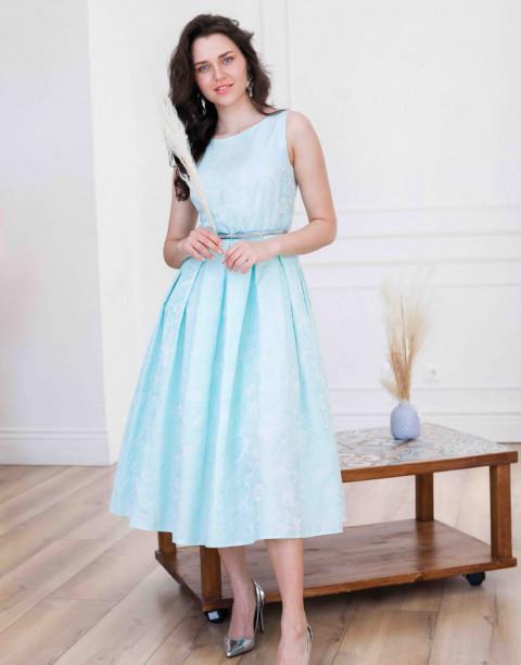 Платье-миди из фактурного жаккарда