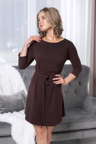 """Свободное платье-мини с рукавом """"летучая мышь"""""""
