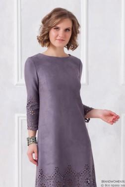 Платье-трапеция с узором