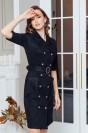 Двубортное платье-миди с пуговицами