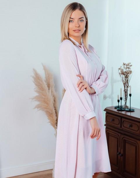 Платье-миди с завязками на шее