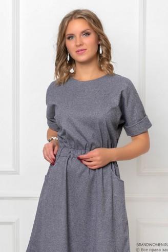 """Платье-мини с рукавом """"летучая мышь"""""""