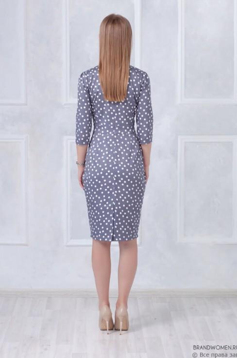Платье футляр длины миди с защипами