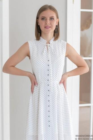 Платье-миди без рукавов с завязками