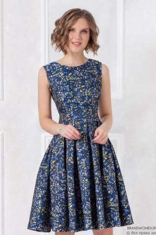 Платье-мини из фактурного жаккарда