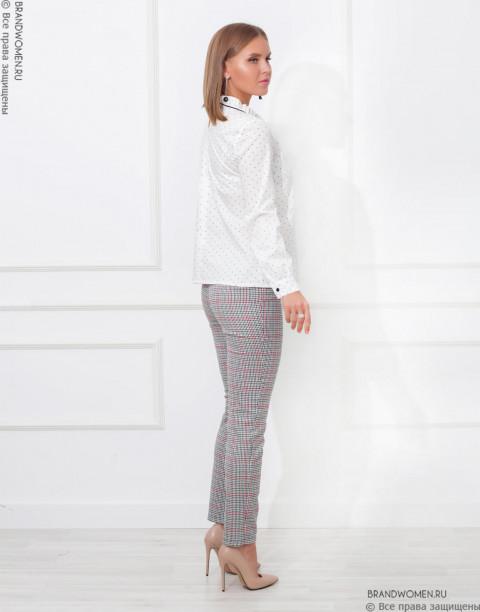 Хлопковая блуза с бантиком