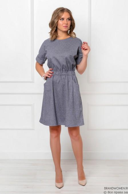 Платье-мини с рукавом