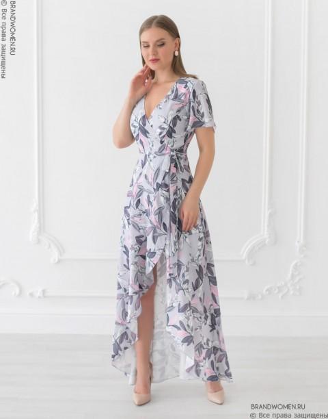 Разноуровневое платье на запах