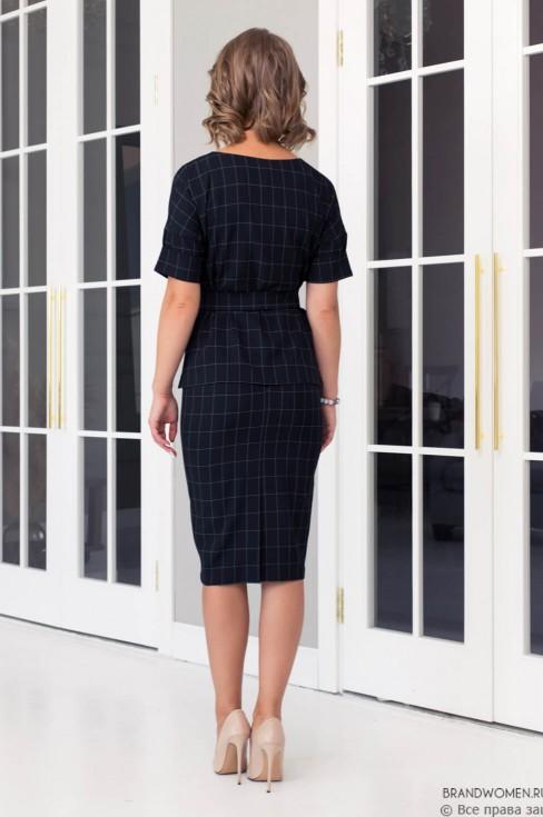Комплект из юбки-карандаш и блузы с поясом