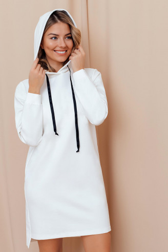 Платье-худи длины мини с капюшоном