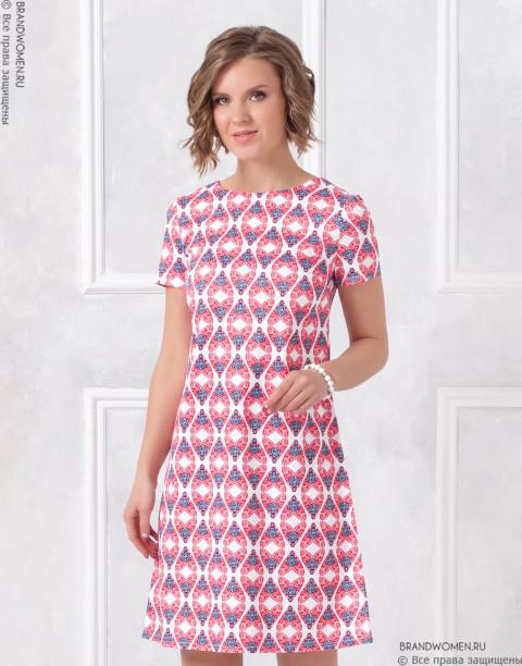 Платье длины мини с принтом