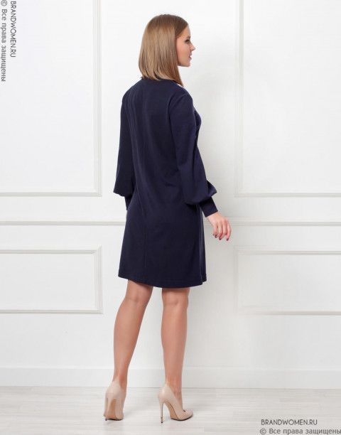 Платье-мини со свободными рукавами