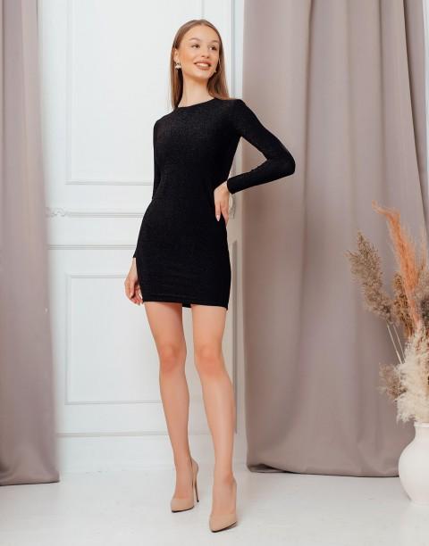 Силуэтное платье-футляр с длинными рукавами