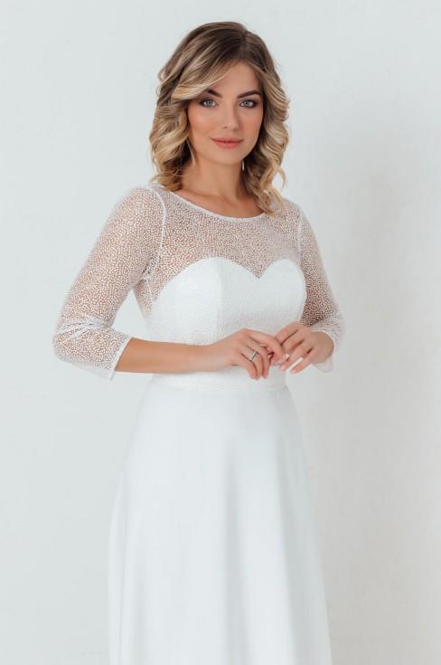 Платье длинное с корсетом и открытой спиной