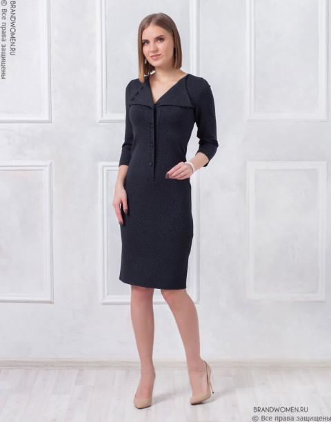 Платье-футляр с пуговицами