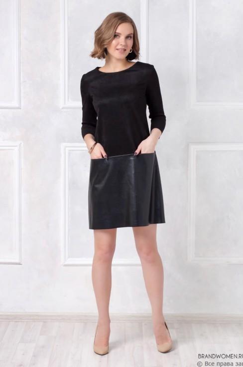 Комбинированное платье-мини