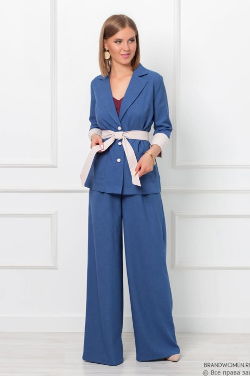 Костюм-двойка из широких брюк и пиджака