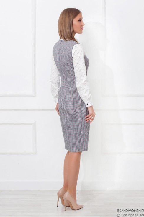 Платье-сарафан на пуговицах с поясом