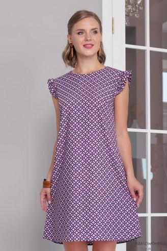 """Платье-мини с рукавами """"крылышки"""""""
