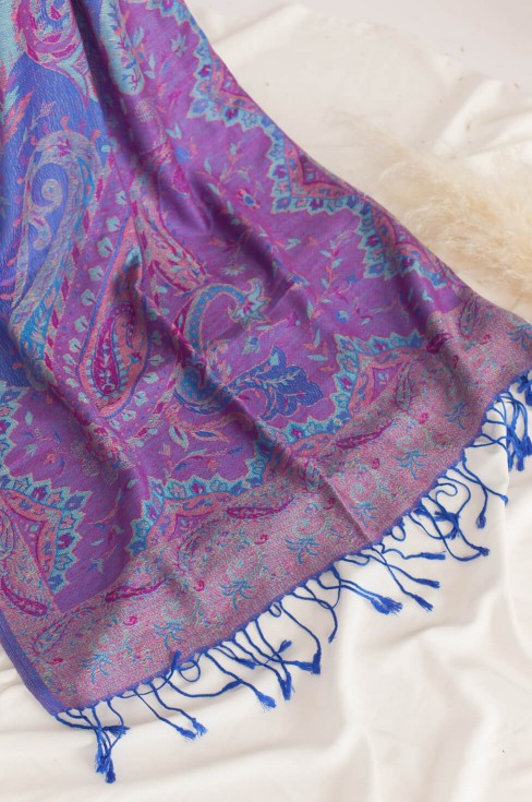 Палантин женский сине-фиолетовый