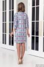 Платье летучая мышь с декоративной строчкой