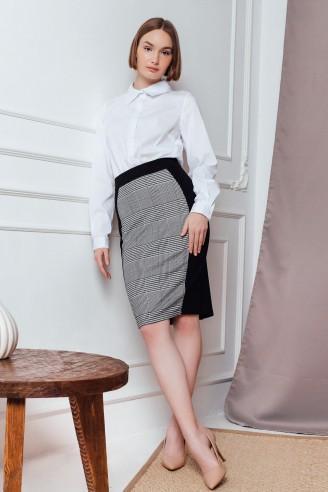 Комбинированная юбка-миди