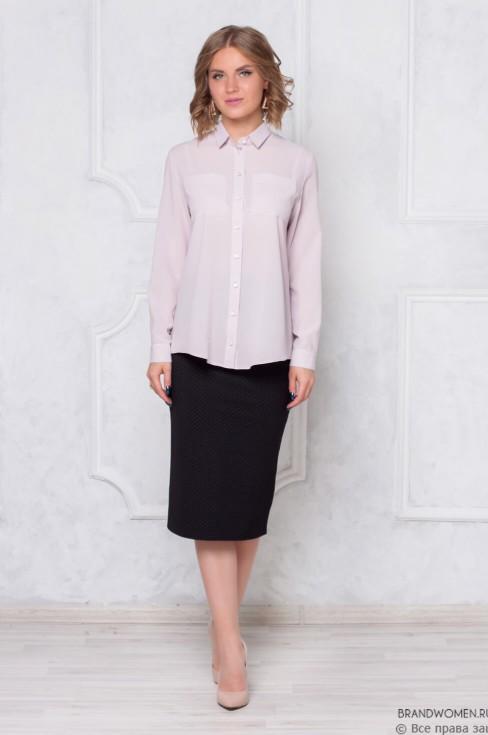 Разноуровневая блуза с длинным рукавом