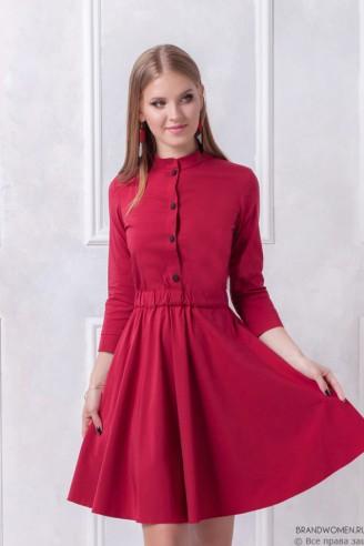 Платье-мини с контрастными пуговицами