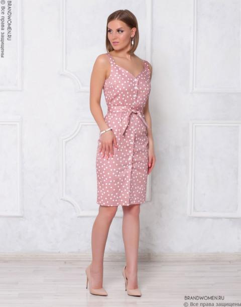 Платье-сарафан на пуговицах