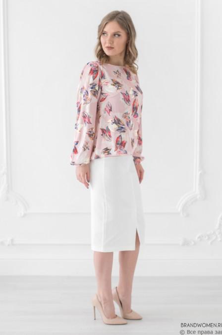 Разноуровневая блуза с длинными рукавами