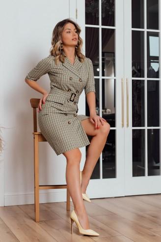 Платье-пиджак длины миди
