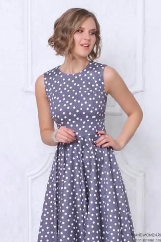 Платье-миди без рукавов