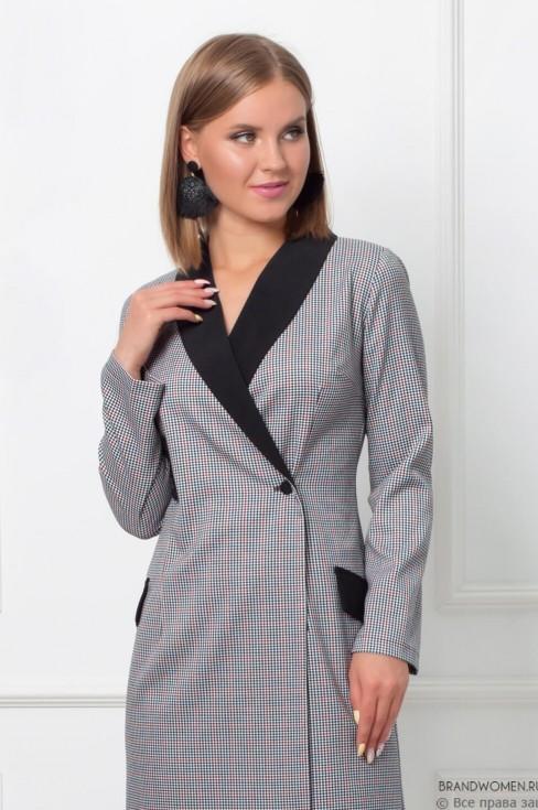 Платье-пиджак длины мини