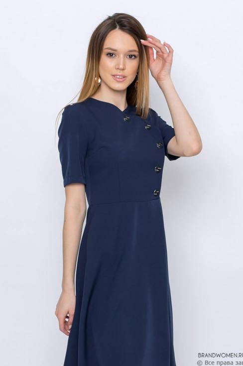 Платье-мини с декоративными пуговицами