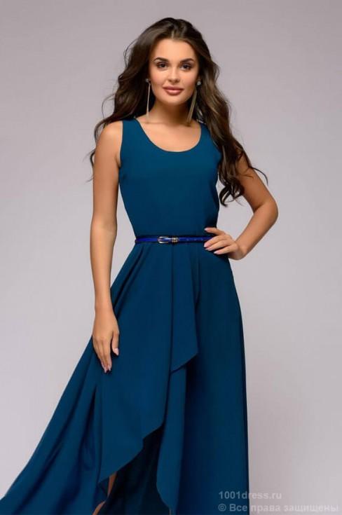 Разноуровневое платье длины макси без рукавов