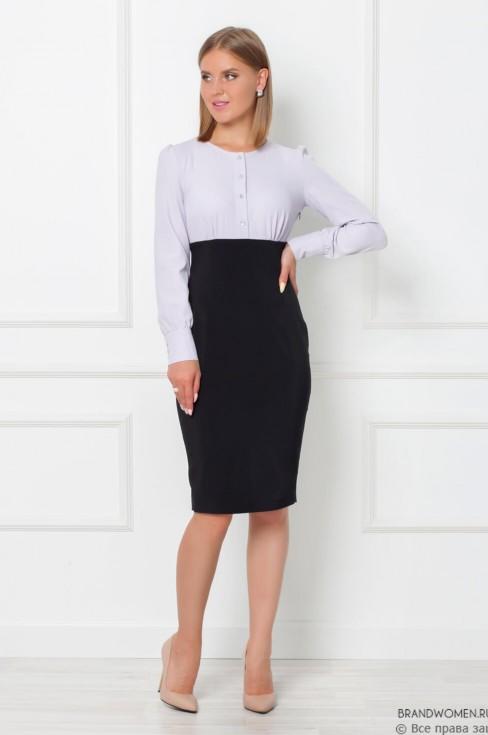 Платье-футляр с имитацией блузки