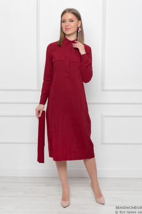 Платье-рубашка с длинными рукавами