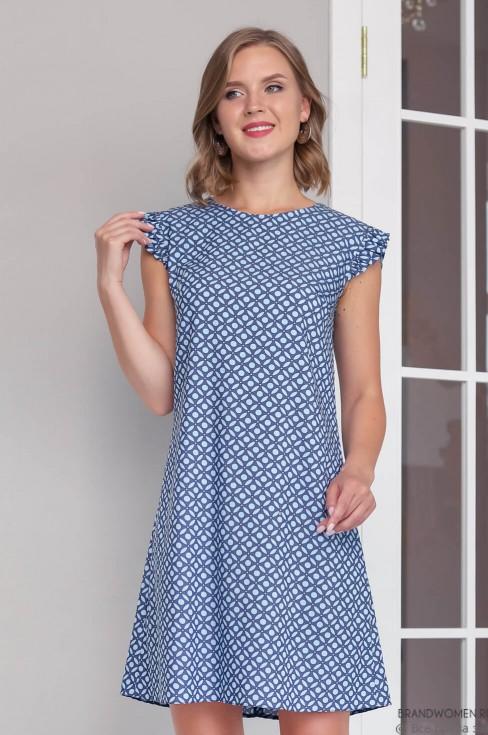 Платье-мини с рукавами