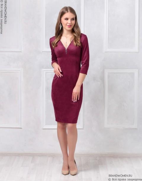 Платье-футляр с молниями