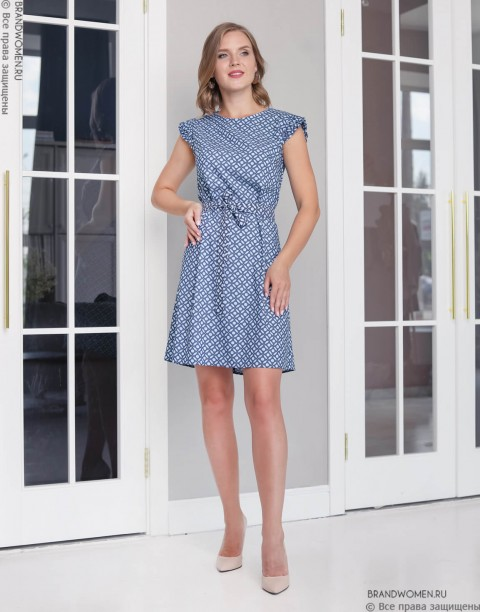 Платье-мини с рукавами-крылышками