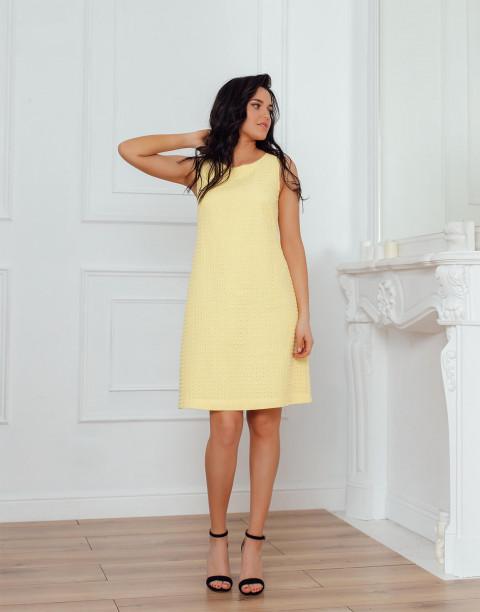 Хлопковое платье-мини без рукавов