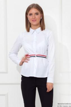 Рубашка с длинными рукавами и поясом