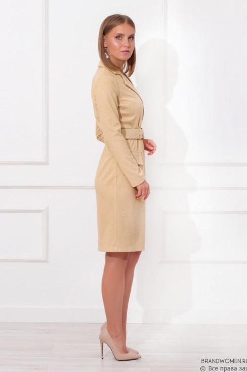 Платье-пальто длины миди