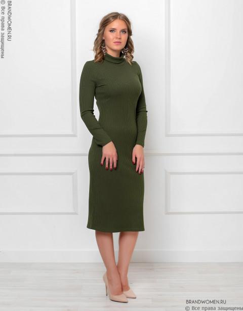 Платье-водолазка длины миди