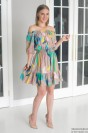 Платье-мини со спущенными плечами