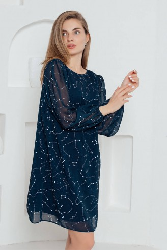 Платье-мини с V-образным вырезом на спинке