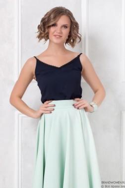 Разноуровневая юбка-макси